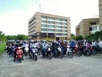 คาราวาน จยย. มทร.ล้านนา ลำปาง อลังการ ร่วมรณรงค์ขับขี่ปลอดภัย ภายในสถานศึกษา