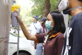 รูปภาพ : มทร.ล้านนา เปิดพื้นที่ให้นักศึกษาและผู้สนใจร่วมรังสรรค์งานศิลปในกิจกรรม RMUTL Wallspot in Chiangmai