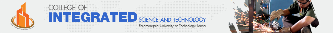 Website logo RMUTL offering water to Phrabat Nampu temple. | College of Integrated Science and Technology