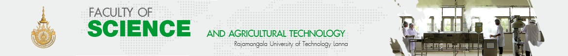 Website logo RMUTL Magazine issue11 | Faculty of Science and Agricultural Technology