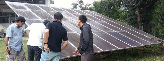 หลักสูตรการดูแลรักษาระบบผลิตไฟฟ้าพลังงานเเสงอาทิตย์