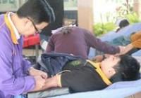 รูปภาพ : คณาจารย์ บุคลากร นักศึกษา ร่วมบริหารโลหิต