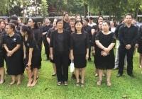 รูปภาพ : 100 ปีธงชาติไทย ชาวคณะวิทยาศาสตร์และเทคโนโลยีการเกษตร ร่วมใจร้องเพลงชาติไทย
