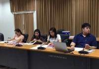 รูปภาพ : การติดตามและวิพากษ์เล่มรายงาน SAR ประจำปีการศึกษา 2560 ระดับสถาบัน