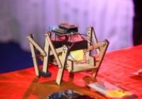 รูปภาพ : การควบคุมหุ่นยนต์ 6 ขาด้วยมือถือ
