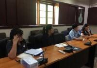 รูปภาพ : ประชุมติดตามผลการดำเนินงานการประกันคุณภาพการศึกษาและการบริหารความเสี่ยง ระดับคณะ