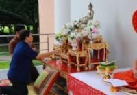 รูปภาพ : มทร.ล้านนา เชียงราย จัดกิจกรรมส่งเสริมพระพุทธศาสนาสวดมนต์ทำวัตรเช้า ทำบุญตักบาตรและฟังเทศน์พื้นเมืองชาดกเนื่องในเทศกาลเข้าพรรษา สัปดาห์ที่ 10