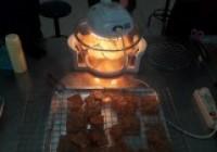 รูปภาพ : ฝึกอบรมเชิงปฏิบัติการการทำไก่แผ่น