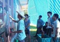 รูปภาพ : ทัศนศิลป์ ส่งมอบผลงานจิตกรรมบนผนังกำแพงวัดศรีนวรัฐ
