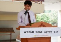 Image : The Language Center organized a Read Aloud activity to celebrate the World Read Aloud Day 2020.