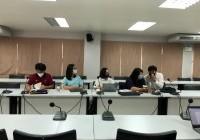 รูปภาพ : การประชุมชี้แจงแนวทางบริหารจัดการทุนวิจัย ที่ได้รับงบประมาณ ปี 2563 ผ่านระบบออนไลน์ Microsoft Teams