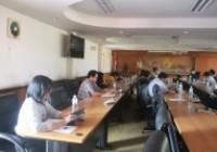 รูปภาพ : ประชุมโครงการส่งเสริมและสนับสนุนการวิจัย พัฒนา ปลูก ผลิต สกัด และแปรรูป กัญชงและกัญชาเพื่อการแพทย์ฯ ในวันจันทร์ ที่ 16 พฤศจิกายน 2563 เวลา 9.00 น. ณ ห้องประชุมชมพูภูคา 1มหาวิทยาลัยเทคโนโลยีราชมงคลล้านนา น่าน