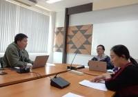 Image : งานกิจการนักศึกษา ประชุมหารือเรื่อง หลักเกณฑ์การจ่ายเงินค่าบริการสุขภาพนักศึกษา ผ่านระบบ VDO CONFERENCE