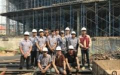 คณาจารย์หลักสูตรวิศวกรรมโยธา ออกนิเทศนักศึกษาฝึกงาน ในภาคเรียนที่ 3/2560