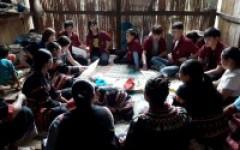 ผลิตภัณฑ์ผ้าชนเผ่าลาหู่ซีบ้านขอนม่วงออมสินยุวพัฒน์รักษ์ถิ่น