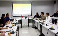 การประชุมหารือการพัฒนาความร่วมมือด้านวิชาการ รวมถึงการแลกเปลี่ยนนักศึกษาและอาจารย์ จากคณะผู้บริหารจาก Chongqing University of Technology (CQUT) สาธารณรัฐประชาชนจีน