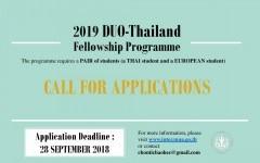 โครงการทุนการศึกษาภายใต้ DUO-Thailand Fellowship Program ประจำปี 2562