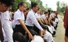 พิธีมอบรุ่นที่ 55  ให้กับนักศึกษาใหม่  ประจำปีการศึกษา 2561