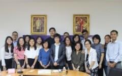 การประชุมร่วมกับผู้แทนและนักศึกษาจาก Temasek Polytechnic และ Ngee Ann Polytechnic ประเทศสิงคโปร์