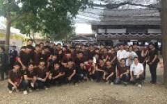 นักศึกษา วศบ.ยธ. มทร.ล้านนา เชียงใหม่ ช่วยงานพระราชทานเพลิงสรีระสังขารของหลวงพ่อเปลี่ยน ปัญญาปทีโป (ครั้งที่ 2)