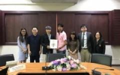 การประชุมร่วมกับผู้แทนจาก Sejong University ประเทศเกาหลีใต้