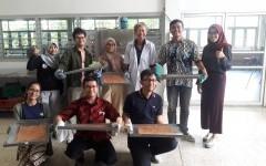 วิทยากรฝึกอบรมเชิงปฏิบัติการ การทำไก่แผ่น ให้กับนักศึกษามหาวิทยาลัย Brawijaya ประเทศอินโดนีเซีย