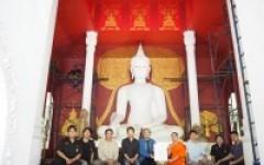 กลุ่มวิชาศิลปะไทยฯ ถวายภาพลายคำ พระพุทธเจ้า 28 พระองค์ โพธิพฤกษ์แห่งการตรัสรู้ วัดผาลาด