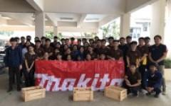 บริษัท Makita จำกัด จัดอบรมบรรยายเครื่องมืองานไม้ สำหรับนักศึกษา วิชา Civil Engineering Workshop