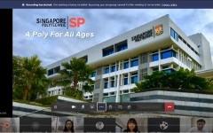 การประชุมร่วมกับ Singapore Polytechnic ประเทศสิงคโปร์ ผ่านระบบออนไลน์