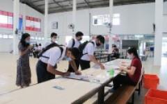 การรายงานตัวเข้าหอพักนักศึกษาระดับ ปวส. และสาขาออกแบบอุตสาหกรรม ปีการศึกษา 2563