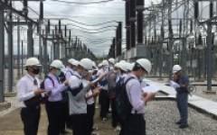 วศ.บ.วิศวกรรมไฟฟ้า ศึกษาดูงานแลกเปลี่ยนประสบการณ์จริงกับวิศวกรในสถานีไฟฟ้า