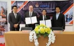 คณะวิศวะ มทร.ล้านนา จับมือบริษัท Festo และ บริษัท คูก้า ประเทศไทย เปิด Hub the Trainer สร้างศูนย์กลางความเป็นเลิศด้านด้านหุ่นยนต์เคลื่อนที่ ผลิตกำลังคนเข้าสู่ EEC