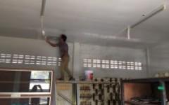 ตัวแทนศิษย์เก่า ให้ความอนุเคราะห์ ซ่อมแซมหลังคาและฝ้าเพดาน อาคาร ยธ.7