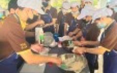 นศ.สาขาวิชาการท่องเที่ยว โครงการทุนนวัตกรรมสายอาชีพ เข้ารับการอบรมหลักสูตรการทำขนมไทยและเบเกอรี่ ณ สถาบันพัฒนาฝีมือแรงงาน 20