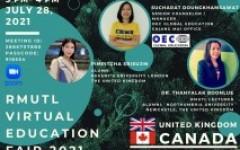 โครงการแนะแนวศึกษาต่อต่างประเทศ RMUTL Virtual Education Fair 2021 ครั้งที่ 3 (ประเทศอังกฤษ และแคนาดา)