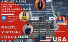 โครงการแนะแนวศึกษาต่อต่างประเทศ RMUTL Virtual Education Fair 2021 ครั้งที่ 4 (สหรัฐอเมริกา)