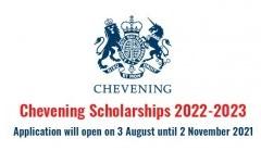 ประชาสมัพันธ์ทุนการศึกษา Chevening ประจำปี 2022/2023 ณ สหราชอาณาจักร