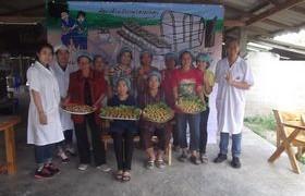 รูปภาพ : อาจารย์ มทร.ล้านนา ลำปาง เป็นวิทยากรฝึกอบรมเชิงปฏิบัติการ การทำซาลาเปาไส้เห็ด และขนมจีบไส้เห็ด ให้แก่กลุ่มวิสาหกิจชุมชนเพาะเห็ด บ้านทุ่งบ่อแป้น