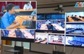 รูปภาพ : ผอ.วิทยบริการฯ ประชุม Conference หารือข้อราชการ ผอ.กองการศึกษา ๕ พื้นที่