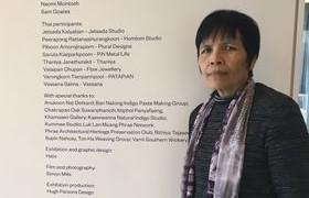 """รูปภาพ : ผศ.วาสนา  สายมา เจ้าของผลงาน  """"โคมไฟปะการัง"""" ได้รับการคัดเลือกจากศูนย์ศิลปาชีพระหว่างประเทศ ให้เข้าร่วมแสดงผลงานในนิทรรศการ  Exhibition on Scottish – Thai Craft & Design Exchange"""