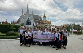 Image : Teacher and students of Bachelor of Arts program in Hotel and Tourism Management at RMUTL Lanna (Chiang Rai) to Access with thankfulness Tomb fell.