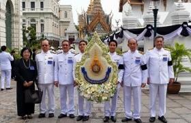 รูปภาพ : ผู้แทน 9 ราชมงคล ร่วมพิธีสวดพระอภิธรรมพระบรมศพ พระบาทสมเด็จพระปรมินทรมหาภูมิพลอดุลยเดช