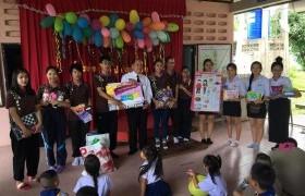 """รูปภาพ : นักศึกษา มทร.ล้านนา ลำปาง จัดโครงการ """"แบ่งปันรอยยิ้ม จากพี่สู่น้อง"""" ให้กับนักเรียนโรงเรียนปงวัง"""