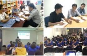 รูปภาพ : ลงพื้นที่ติดตามผล และฝึกอบรมให้ความรู้ โครงการเพิ่มผลิตภาพแรงงานไทย ปี 2560 ด้วย STEM (Workforce)