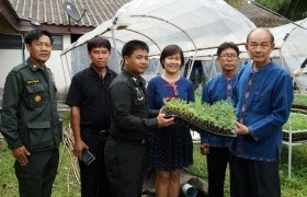 รูปภาพ : มทร.ล้านนา ลำปาง มอบต้นกล้าดอกดาวเรือง แก่ศูนย์ฝึกนักศึกษาวิชาทหาร มทบ.32