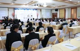 รูปภาพ : นศ.การจัดการ จัดโครงการสัมมนาทางวิชาการเรื่อง การพัฒนาผลิตภัณฑ์เพื่อสร้างความมั่นคงและความได้เปรียบทางการค้าในยุค Thailand 4.0