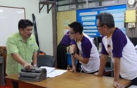 รูปภาพ : เก๊าซอมพอจูเนียร์ ต้อนรับทีมงาน SCB challenge ในโอกาสติดตาม การดำเนินโครงงาน Brailler for the blind
