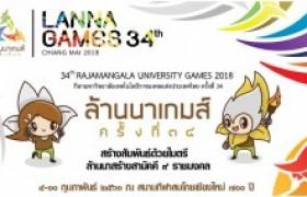 รูปภาพ : พิธีเปิด ล้านนาเกมส์ กีฬามหาวิทยาลัยเทคโนโลยีราชมงคลแห่งประเทศไทยครั้งที่ 34