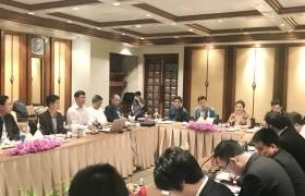 รูปภาพ : ผศ.ประพัฒน์ เชื้อไทย พร้อมคณะทำงานร่วมหารือกับผู้เชี่ยวชาญการสร้างทางรถไฟและพลังงาน ตามแผนงานขับเคลื่อนยุทธศาสตร์มหาวิทยาลัย 5 flagship มหาวิทยาลัยการขนส่ง (Transportation University)