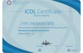 รูปภาพ : ใบประกาศผลการทดสอบมาตรฐานด้านเทคโนโลยีสารสนเทศ ICDL Certificate
